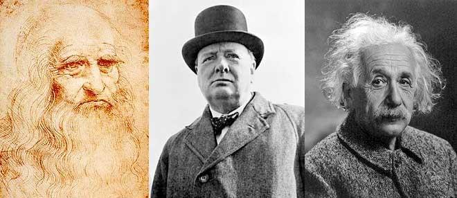Vinci, Churchill et Einstein
