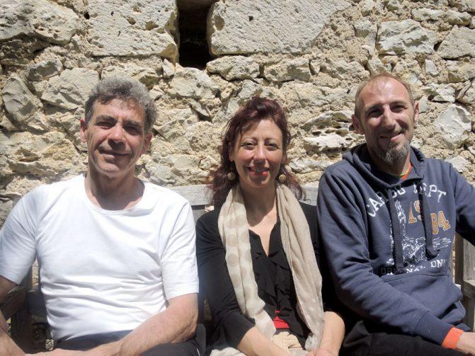Jacky Lardy, Karine Riches et Frédérik Lallement au  stage danse thérapie 2016